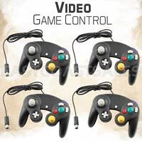 4x Black Video Game Pad Controller Remote For Nintendo Wii GameCube System