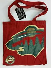 NHL Minnesota Wild Reusable Canvas Shopping Tote, New