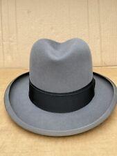 New listing Vintage Stetson Royal Deluxe Fedora Size 7 - 1/8 St Regis Gray Hat Homburg