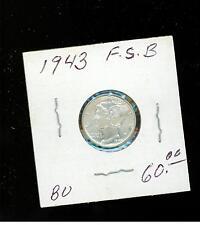 1943 FSB USA Dime 10 cent coin