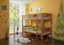 Cameretta bambini, letto a castello dividibile, in legno faggio naturale