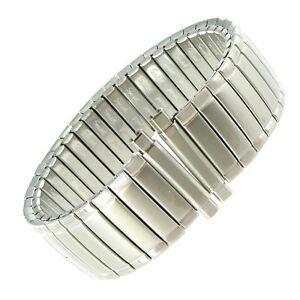 16-21mm Speidel Twist-O-Flex Silver Tone Stainless Watch Band 1239/02