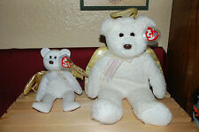 HALO II the White Angel Bear  with Gold Wings - Ty Beanie Baby and Buddy  - MWMT