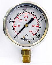 Pressure gauge 4000kpa/600psi 63mm Gauge, bottom entry