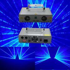 2  Lens 300mW Blue +300mW Blue DMX Laser Light Stage DJ Party Club Lighting Show