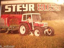 ✪Trecker/Schlepper/Traktor sales brochures Original Prospekt/HEFT Steyr 8055
