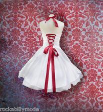 Brautkleid knielang Hochzeitskleid 50er schulterfrei weiß maßgeschneidert kurz
