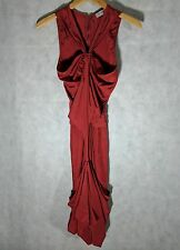 YSL AW 2003 Runway Tom Ford Red Deconstructed Dress Size F34 Yves Saint Laurent