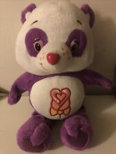 Care Bears Collectable Soft Toy Plush Perfect & Polite Panda , Purple & White