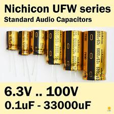 Nichicon UFW FW 6.3V-100V 0.1uF-33000uF Standard Audio Capacitors