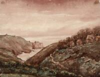 LANDSCAPE AT FOREST GUERNSEY Watercolour Painting - 19TH CENTURY