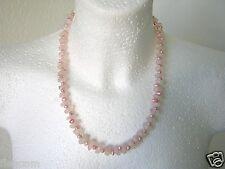 Kette mit rosa Perlen und Rosenquarz 58,7 g / 51 cm
