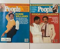 Vintage People Magazines Lot of 2 Robin Williams Eddie Murphy Richard Pryor ^