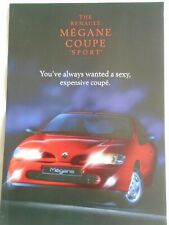 Renault Megane Coupe Sport brochure Dec 1997