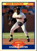 1989 Score San Francisco Giants Baseball Card #628 Charlie Hayes Rookie