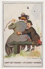 Can't Get Round, I'm Short Handed, Fred Spurgin Comic Postcard B641