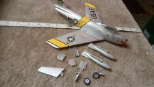 NORTH AMERICAN F-86 SABRE 1/48 SCALE BUILT SPARES OR REPAIR INCOMPLETE?