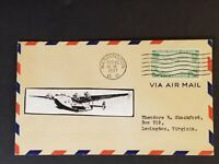 1937 Washington DC to Lexington Virginia Crosby Cachet First Day Air Mail Cover