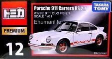1/61 Scales Takara Tomy Tomica Premium 12 Porsche 911 Carrera RS 2.7 Diecast Car
