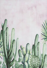 GREEN CACTUS WALL ART * LARGE A3 SIZE QUALITY CANVAS ART PRINT