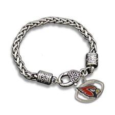 Arizona Cardinals NFL Football Charm Dangle Women's Fashion Clasp Bracelet