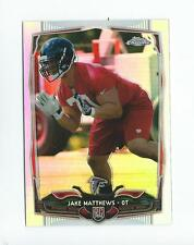 2014 Topps Chrome Refractor #199 Jake Matthews Rookie Falcons