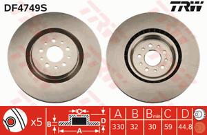 TRW Brake Rotor Front DF4749S fits Alfa Romeo GT 3.2 GTA (937)