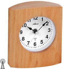 Atlanta 3131 Tischuhr Funk Holz Buche Funkuhr Funktischuhr Höhe ca. 14 cm