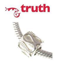 TRUTH PK 925 sterling silver wavy filigree barrel charm bead