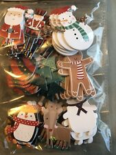 Christmas Character Foam Stickers Pack Of 45 Stickers Santa Rudolph Snowman