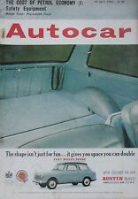 Autocar magazine 19/7/1963 featuring Plymouth Fury road test