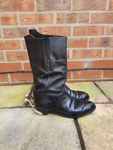 British Army - Officers Mess Wellingtons with Spurs