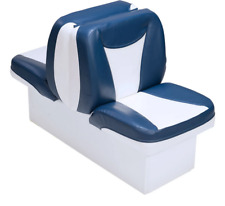 Boat Seat Back To Back Blue & Gray High Grade Premium Lounger  UV Treated Vinyl