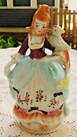 VINTAGE 1945-52 OCCUPIED JAPAN HAND PAINTED PORCELAIN COLONIAL WOMAN FIGURINE