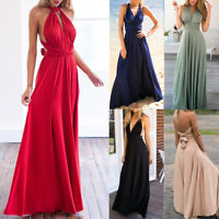 Women Bridesmaids Bandage Skirt Boho Long Maxi Dress Sexy Evening Party Clubwear