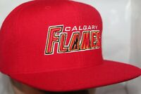 Calgary Flames Mitchell & Ness NHL Vintage Wool Solid SnapBack,Hat,cap      NEW