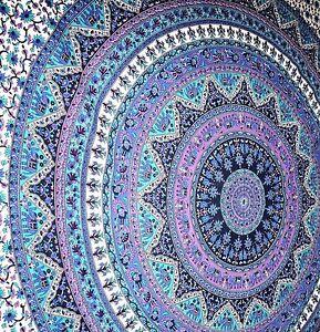 Indien Twin Hippie Mandala Bedspread Wall Hanging bohemian Ethnic Throw Tapestry