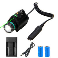 200LM Flashlight Green Dot Laser Combo for Hunting fit 20mm Rails L