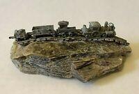 MICA ROCK SLAB w/ Locomotive COAL TRAIN  & Track Paperweight/ Display