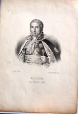 gravure 19em du MARECHAL  D'EMPIRE  MASSENA EN 1814