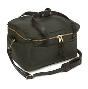 NEW FILSON  #265-OT  RUGGED TWILL LARGE COMPARTMENT DUFFLE BAG BRIDLE LEATHER