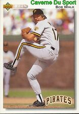 619 BOB WALK PITTSBURGH PIRATES BASEBALL CARD UPPER DECK 1992