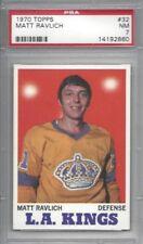 1970 Topps hockey card #32 Matt Ravlich, Los Angeles Kings graded PSA 7