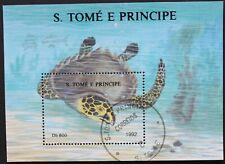 "Sao Tome e Principe: Michel Block-Nr. 278 ""Schildkröten"" aus 1992, gestempelt"