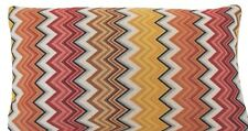 Zig Zag Woven Cushion Cover Oriental Orange Red Brown Rectangle Designers B