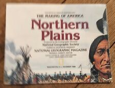National Geographic Society The Making Of America Northern Plains Map Dec 1985