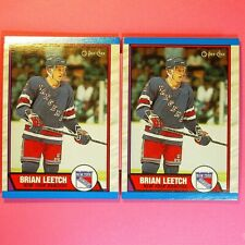 Lot of 2    BRIAN LEETCH  1989-90  ROOKIE   OPC  #136   NY Rangers
