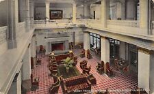 Helena MT Fireplace~View of Lobby Fron the Mezzanine Level~Pillar Chairs 1914