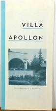 1950's Villa Apollon Xilokastron Greece vintage travel brochure b
