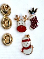 Set of 3 Christmas pins fashion jewelry  novelty gift #14